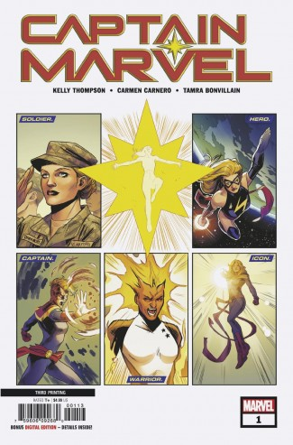 CAPTAIN MARVEL #1 (2019 SERIES) 3RD PRINTING