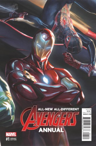 ALL NEW ALL DIFFERENT AVENGERS ANNUAL #1 ROSS VARIANT COVER