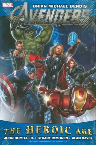 AVENGERS BY BENDIS HEROIC AGE HARDCOVER MOVIE COVER