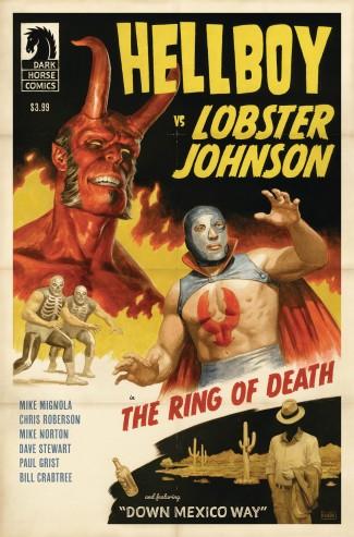 HELLBOY VS LOBSTER JOHNSON RING OF DEATH