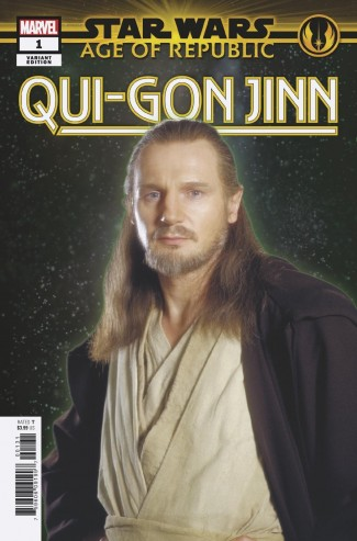 STAR WARS AGE OF REPUBLIC QUI-GON JINN #1 MOVIE 1 IN 10 INCENTIVE VARIANT