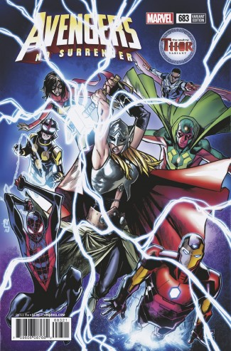 AVENGERS #683 (2016 SERIES) RAMOS MIGHTY THOR VARIANT