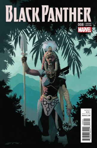 BLACK PANTHER VOLUME 6 #8 RIBIC CONNECTING D VARIANT COVER