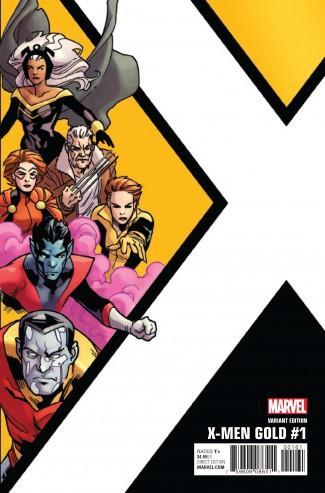 X-MEN GOLD #1 KIRK CORNER BOX 1 IN 10 INCENTIVE VARIANT COVER