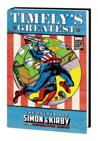 TIMELYS GREATEST THE GOLDEN AGE SIMON AND KIRBY OMNIBUS DM VARIANT HARDCOVER