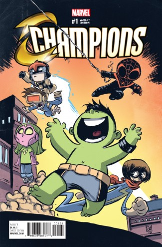 CHAMPIONS VOLUME 2 #1 SKOTTIE YOUNG VARIANT COVER