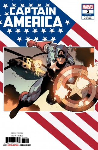 CAPTAIN AMERICA #2 (2018 SERIES) 2ND PRINTING