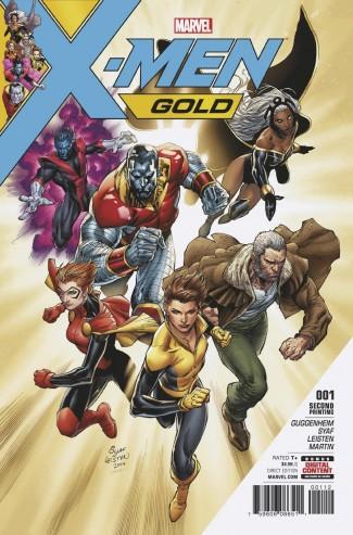 X-MEN GOLD #1 SYAF 2ND PRINTING VARIANT COVER