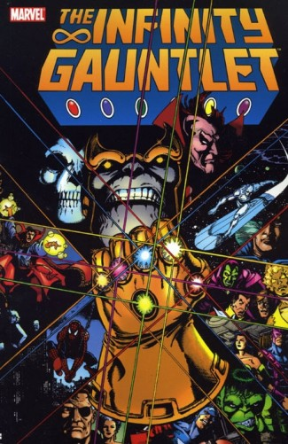 INFINITY GAUNTLET GRAPHIC NOVEL (Small Black Dot On Edge See Photo)