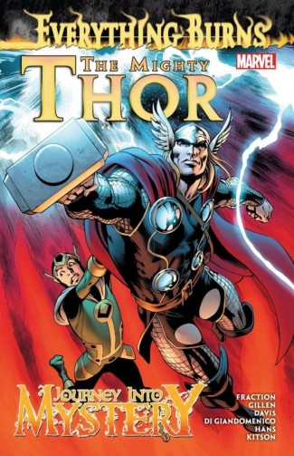 MIGHTY THOR AND JOURNEY INTO MYSTERY EVERYTHING BURNS GRAPHIC NOVEL