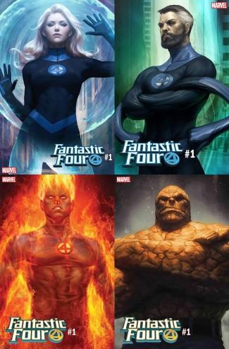FANTASTIC FOUR #1 ARTGERM FOUR CHARACTER VARIANT SET