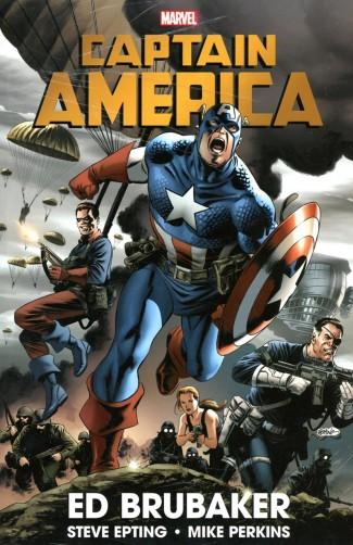 CAPTAIN AMERICA BY ED BRUBAKER OMNIBUS VOLUME 1 HARDCOVER