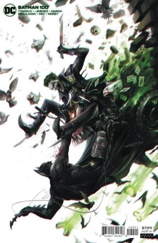 BATMAN #100 (2016 SERIES) JOKER WAR TIE-IN FRANCESCO MATTINA CARD STOCK VARIANT