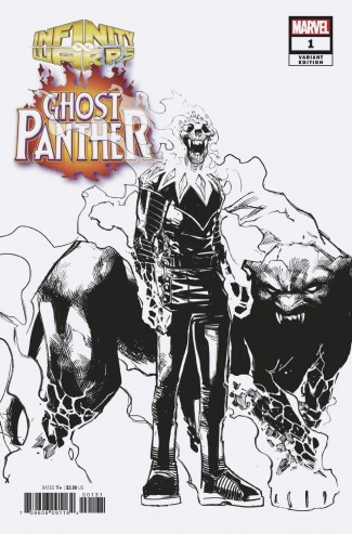 INFINITY WARS GHOST PANTHER #1 RAMOS DESIGN 1 IN 10 INCENTIVE VARIANT