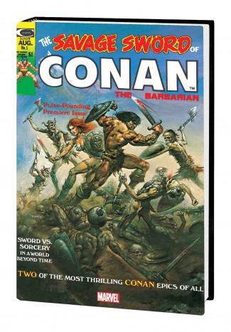 SAVAGE SWORD OF CONAN THE ORIGINAL MARVEL YEARS OMNIBUS VOLUME 1 DM VARIANT HARDCOVER