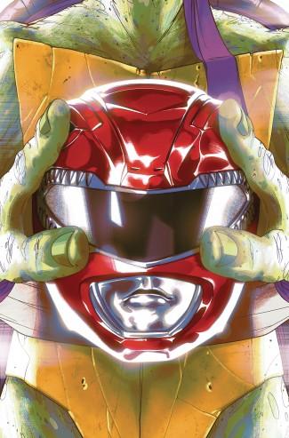MIGHTY MORPHIN POWER RANGERS TEENAGE MUTANT NINJA TURTLES #1 DONATELLO COVER