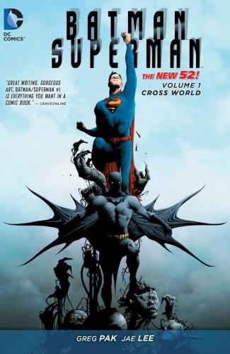 BATMAN SUPERMAN VOLUME 1 CROSS WORLD HARDCOVER