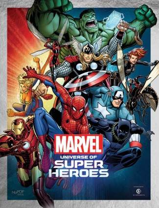 MARVEL UNIVERSE SUPER HEROES MUSEUM EXHIBIT GUIDE GRAPHIC NOVEL