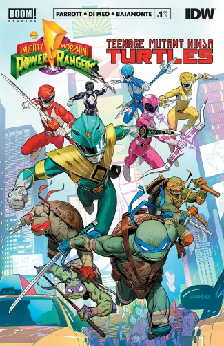MIGHTY MORPHIN POWER RANGERS TEENAGE MUTANT NINJA TURTLES #1