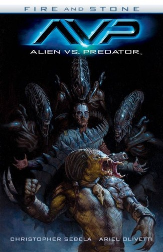 ALIEN VS PREDATOR FIRE AND STONE GRAPHIC NOVEL
