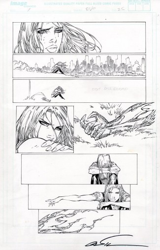 MARC SILVESTRI ORIGINAL COMIC ART - EVO #1 PAGE 25