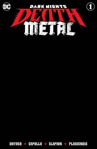 DARK NIGHTS DEATH METAL #1 BLACK BLANK VARIANT