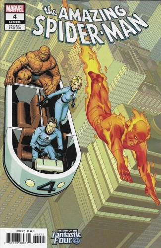 AMAZING SPIDER-MAN #4 (2018 SERIES) SPROUSE RETURN OF FANTASTIC FOUR VARIANT