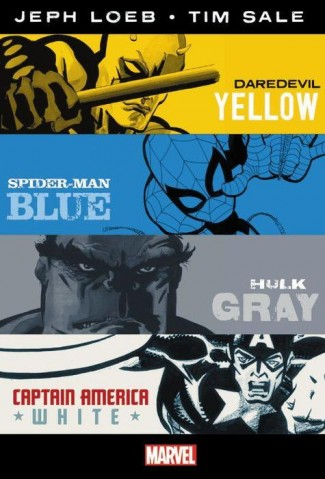 JEPH LOEB TIM SALE YELLOW BLUE GRAY AND WHITE OMNIBUS HARDCOVER