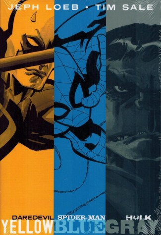 JEPH LOEB AND TIM SALE YELLOW BLUE AND GRAY HARDCOVER