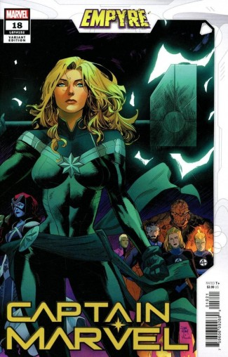 CAPTAIN MARVEL #18 (2019 SERIES) MORA EMPYRE VARIANT 1ST APPEARANCE OF LAURIE-ELL