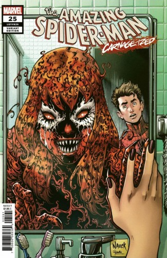 AMAZING SPIDER-MAN #25 (2018 SERIES) NAUCK CARNAGE-IZED VARIANT