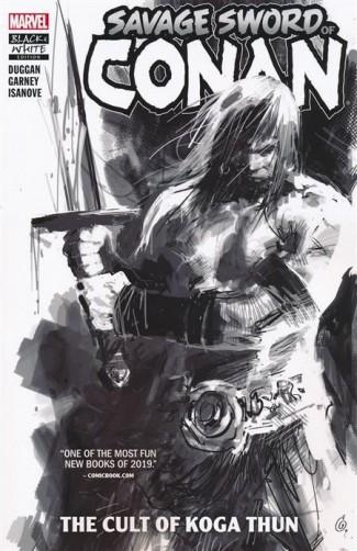 SAVAGE SWORD OF CONAN VOLUME 1 CULT OF KOGA THUN BLACK & WHITE DM VARIANT GRAPHIC NOVEL