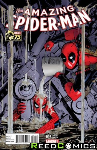 Amazing Spiderman Volume 3 #7 (1 in 25 Deadpool 75th Anniversary Incentive Variant Cover)