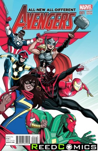All New All Different Avengers #1 (1 in 20 Incentive Variant Cover)