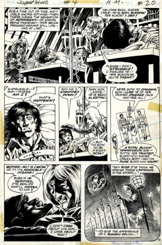 Bernie Wrightson Original Art - 1973 Swamp Thing #4 page 16