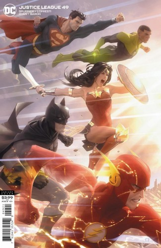 JUSTICE LEAGUE #49 (2018 SERIES) ALEX GARNER VARIANT