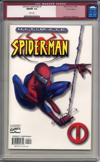 ULTIMATE SPIDER-MAN #1 CGC 9.8 WHITE VARIANT COVER WHITE PAGES