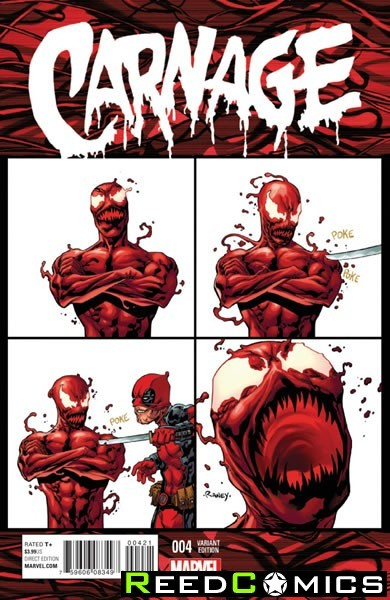 Carnage #4 (1 in 10 Deadpool Incentive Variant Cover)