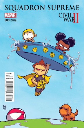 SQUADRON SUPREME VOLUME 4 #9 SKOTTIE YOUNG BABY VARIANT COVER