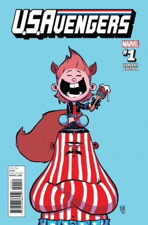 US AVENGERS #1 SKOTTIE YOUNG BABY VARIANT COVER
