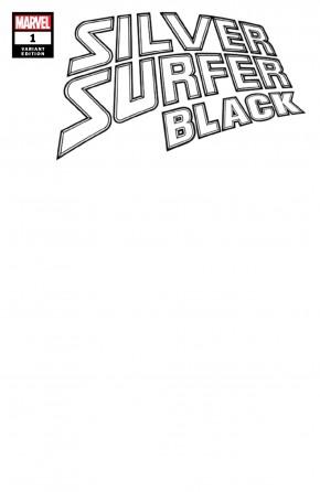 SILVER SURFER BLACK #1 BLANK VARIANT