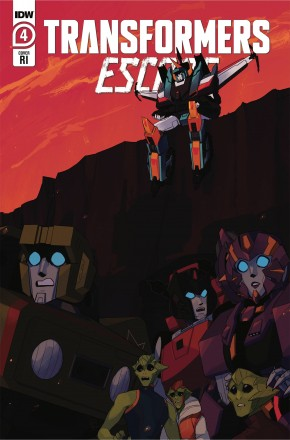 TRANSFORMERS ESCAPE #4 RED POWELL 1 IN 10 INCENTIVE VARIANT