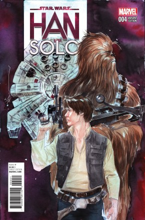STAR WARS HAN SOLO #4 NGUYEN 1 IN 25 INCENTIVE VARIANT COVER
