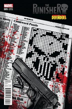 PUNISHER VOLUME 10 #5 AJA DEFENDERS VARIANT COVER