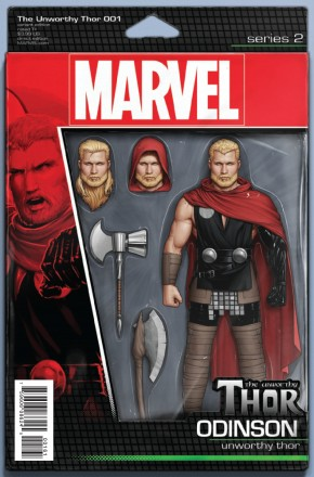 UNWORTHY THOR #1 CHRISTOPHER ACTION FIGURE VARIANT COVER