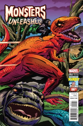 MONSTERS UNLEASHED #2 KIRBY 1 IN 10 INCENTIVE VARIANT COVER