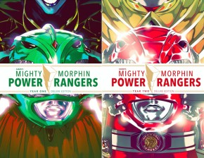 LCSD 2019 MIGHTY MORPHIN POWER RANGERS YEAR ONE AND YEAR TWO HARDCOVER SET