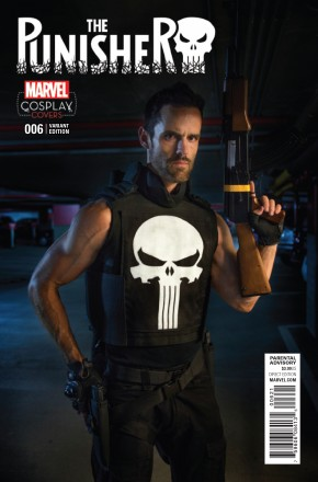 PUNISHER VOLUME 10 #6 COSPLAY 1 IN 15 INCENTIVE VARIANT COVER