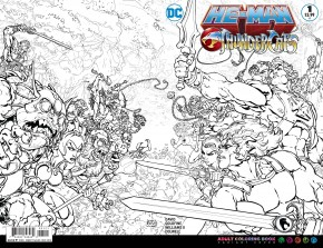 HE-MAN THUNDERCATS #1 COLOURING BOOK VARIANT EDITION