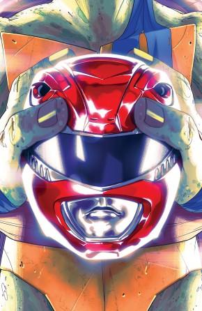 MIGHTY MORPHIN POWER RANGERS TEENAGE MUTANT NINJA TURTLES #1 LEONARDO COVER